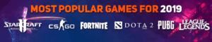 Most Pupular Games 2019