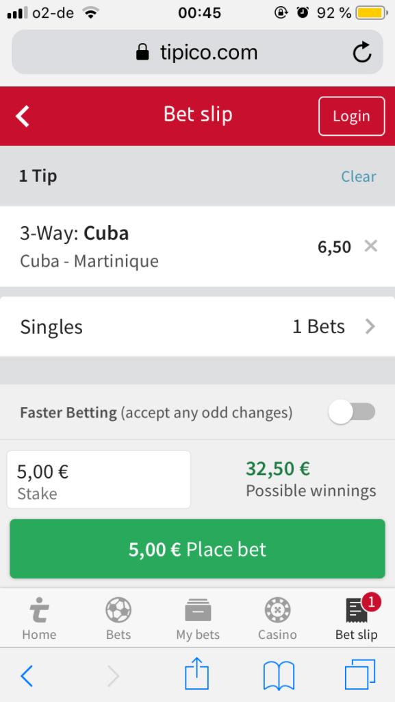tipico mobile app bet slip