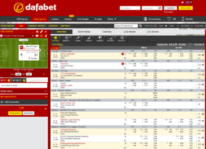 Dafabet In-Play Betting Sportsbook