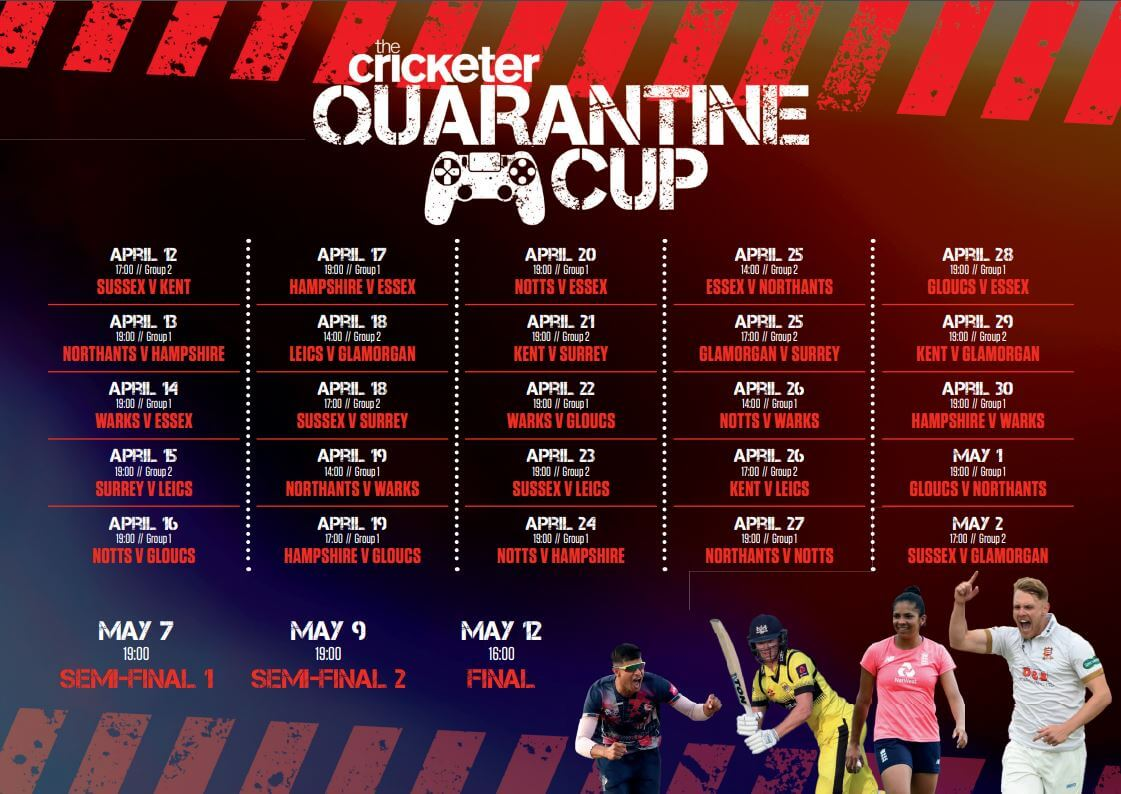 Quarantine Cup Schedule