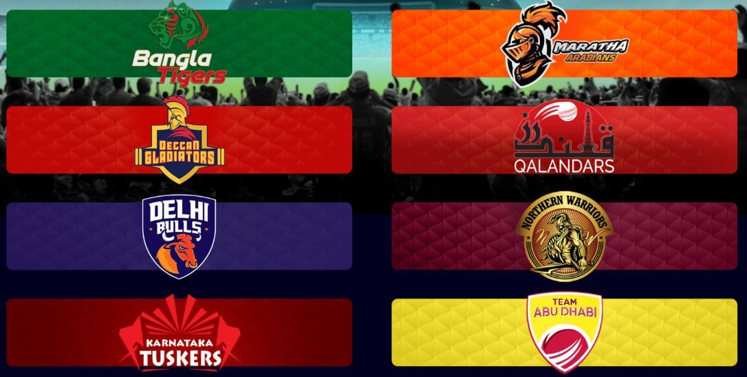 T10 League Teams